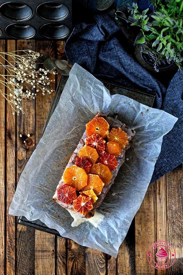 ciasto pomarańczowe z lukrem