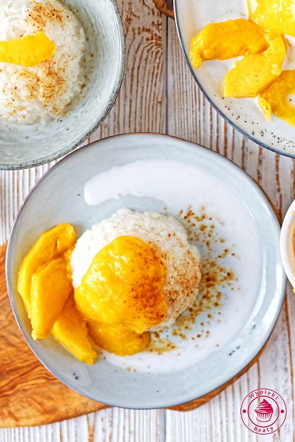 kleisty ryż z mango