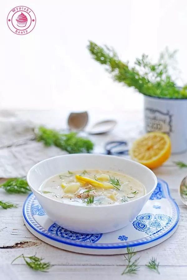 Avgolemono grecka zupa