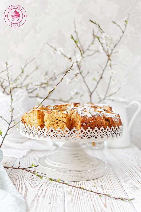kajmakowe ciasto z jabłkami