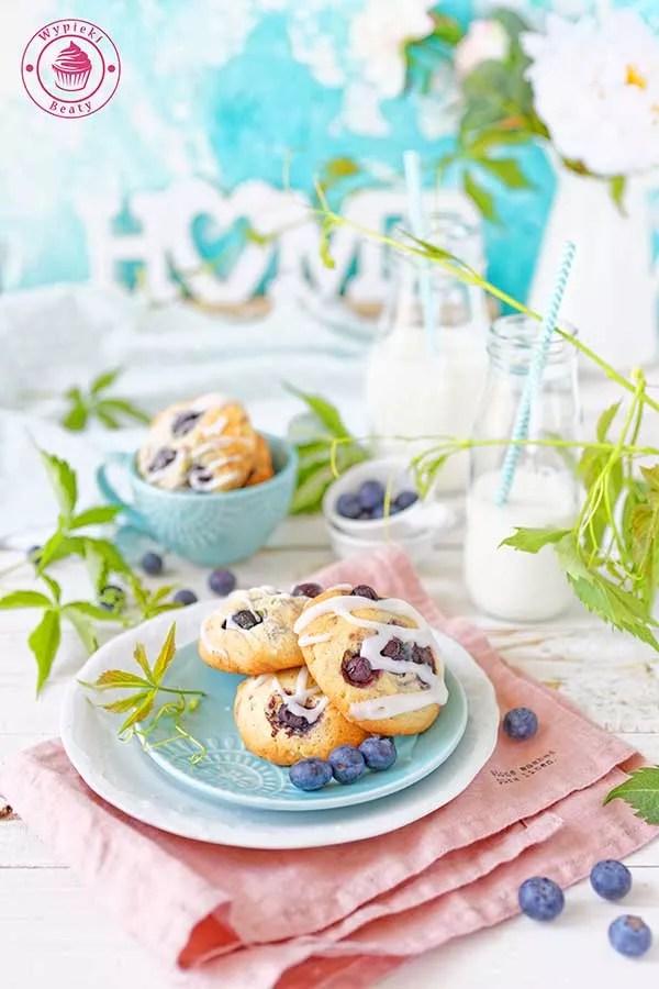 cytrynowe ciasteczka z borówkami