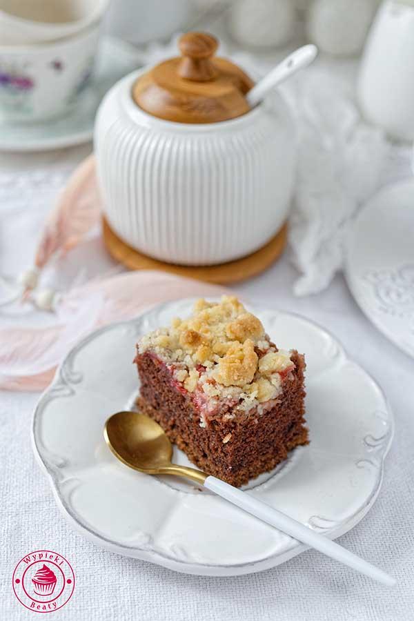 czekoladowe ciasto z kruszonką