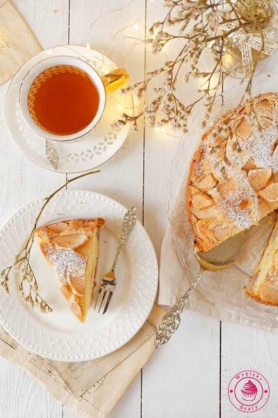 proste ciasto z owocami i mascarpone