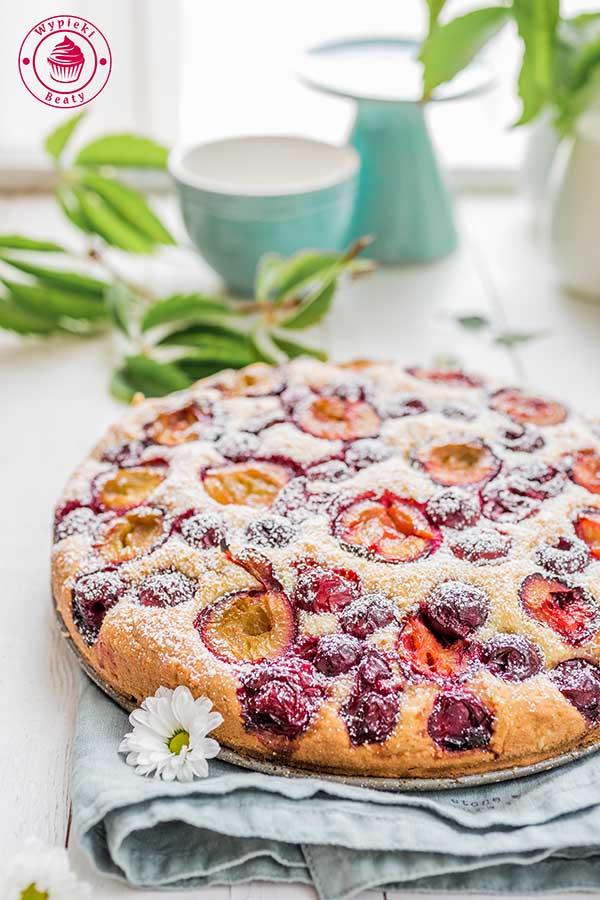 migdałowe ciasto owocowe