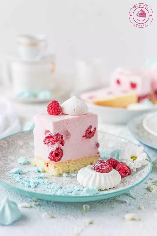 ciasto malinowa pianka
