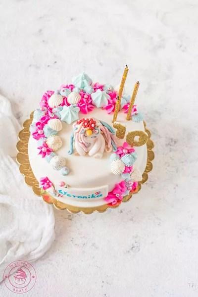 torcik urodzinowy z jednorożcem