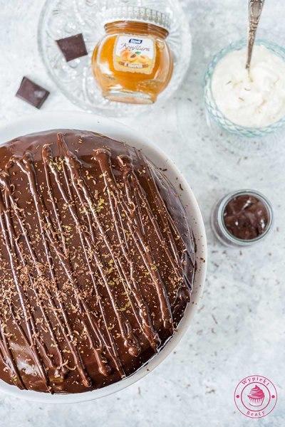 ciasto czekoladowe z polewą czekoladową