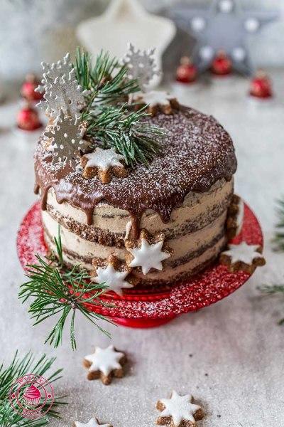 tort czekoladowo-cynamonowy z powidłami