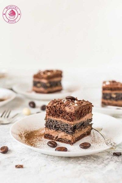 ciasto z makiem i kremem czekoladowym