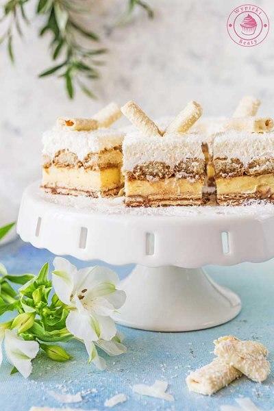 kremowe ciasto z kokosem bez pieczenia