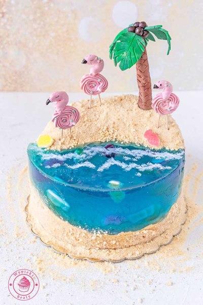 tort ocean i plaża
