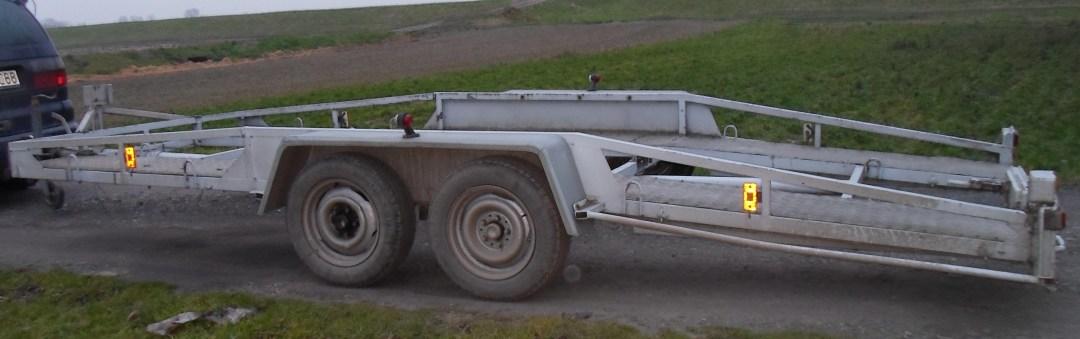 Przyczepa ciężarowa laweta - wypożyczalnia Racibórz