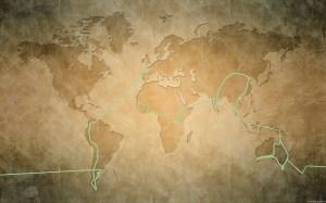 Carte du monde parcours et fond