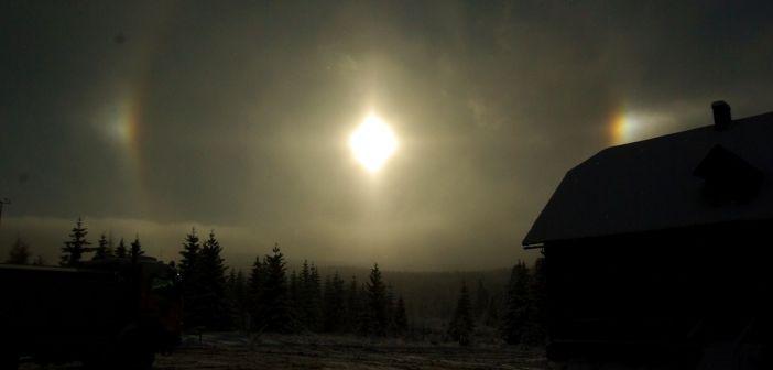 Fotometeory: Słońca poboczne widziane nad Sudetami