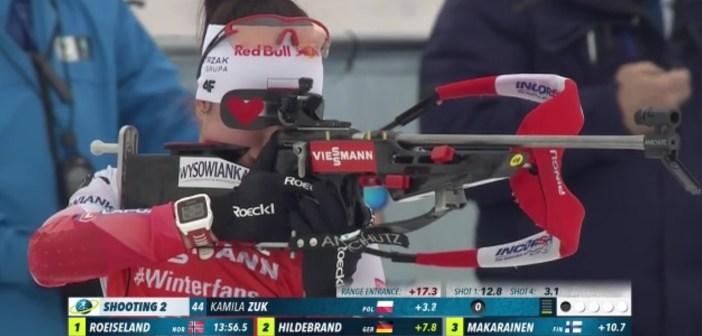 Kamila Żuk 6. w Pucharze Świata w biathlonie! Wielki sukces zawodniczki z Sokołowska.