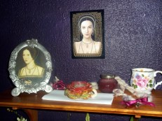 Anne's shrine relocated to our hearth shrine for the festival