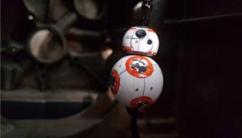 BB8 droid key ring