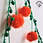 Pumpkin Pom Pom Garland Easy Diy Halloween Decoration Wytenteguj Halloween Decor Diy