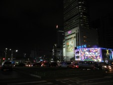 One of the brightly lit up malls in DongDaeMun.