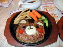 Bear Hamburg steak! ALMOST too cute to eat.