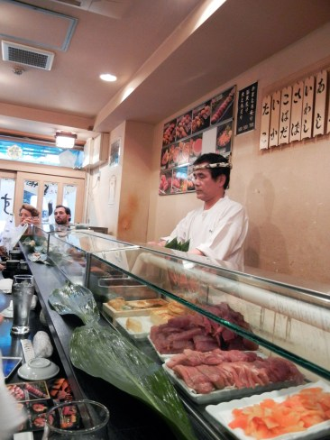The sushi bar that we picked.