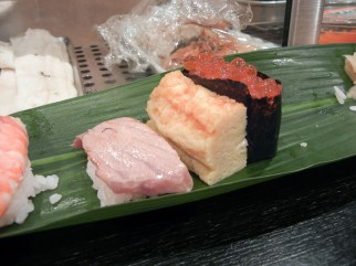 Flame torched tuna, Tamago & Tarako Fish Roe