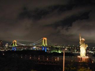 Rainbow Bridge and mini Statue of Liberty