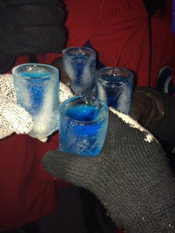 The shot glasses were made of ice and made as we ordered them!