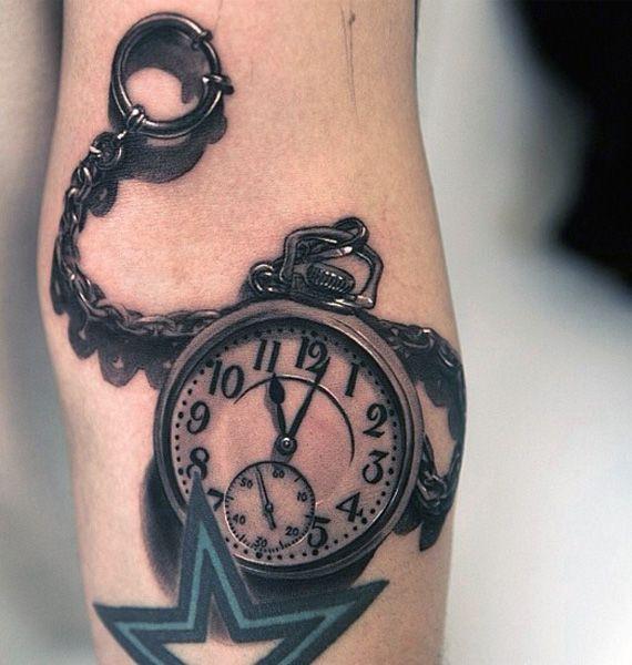 Tatuaże 3d Piękny Zegar Blog Z Tatuażami