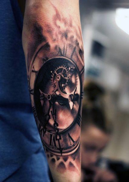 Tatuaże 3d Realistyczny Zegar Blog Z Tatuażami