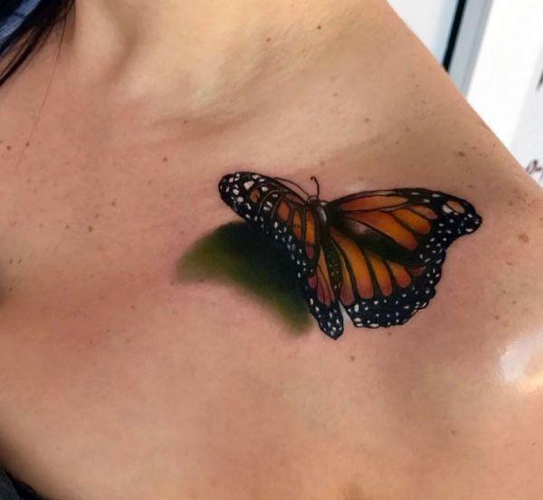 Butterfly Shoulder Tattoo Tattoo Design