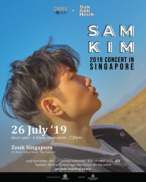 Sam Kim to Hold 'Sun And Moon' Concert in Singapore this July