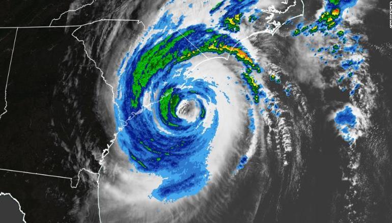 satellite view hurricane dorian