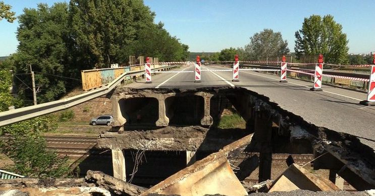 Відновити обвалений міст планують до кінця року