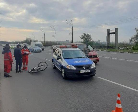 Вранці сталася ДТП за участю велосипедиста