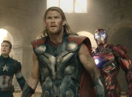 The Avengers unite against Ultron in Marvel's 'Avengers: Age of Ultron,' hitting theaters May 1!