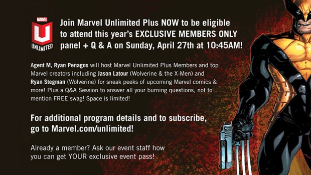 Attend a Marvel Unlimited+ Members Only Event
