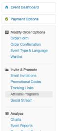 How to add Event Affiliates on Eventbrite