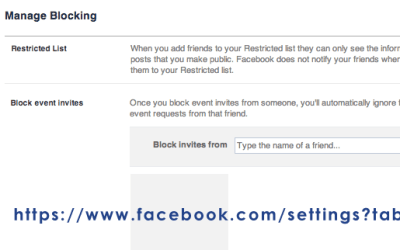 How to block event invitations from a specific person on Facebook