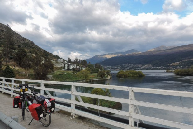 On the bridge on the Kawarau river, just before I realised I did not have to cross it