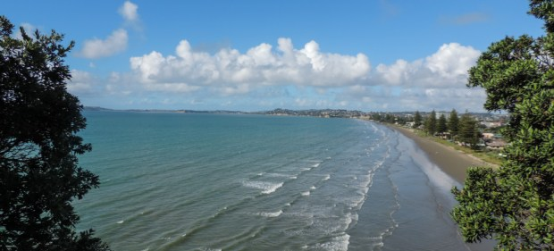 View getting out of Orewa where I had a coffee and got myself a new book.