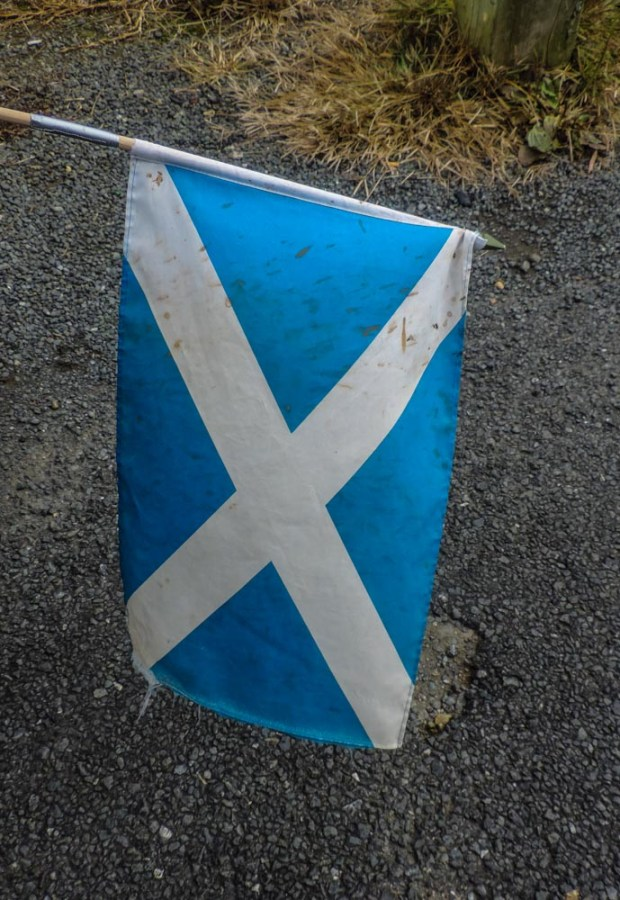 Saltire has seen better days
