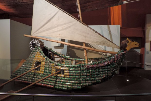 Nothing says Australia more than a sailing boat made out of beer cans.