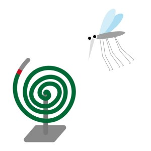 蚊取り線香と蚊