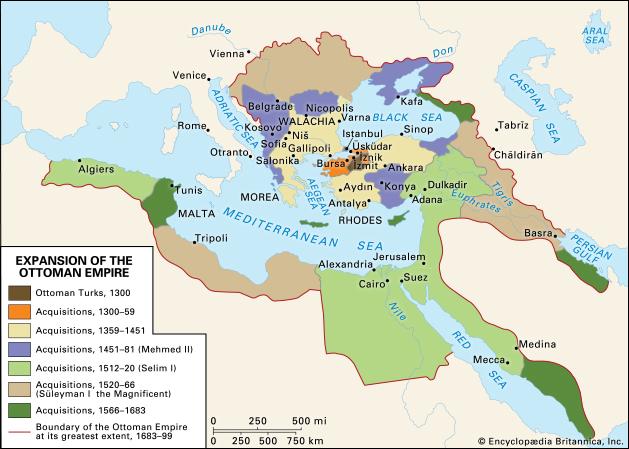 Osmanisches Reich, früher mal (lange her)