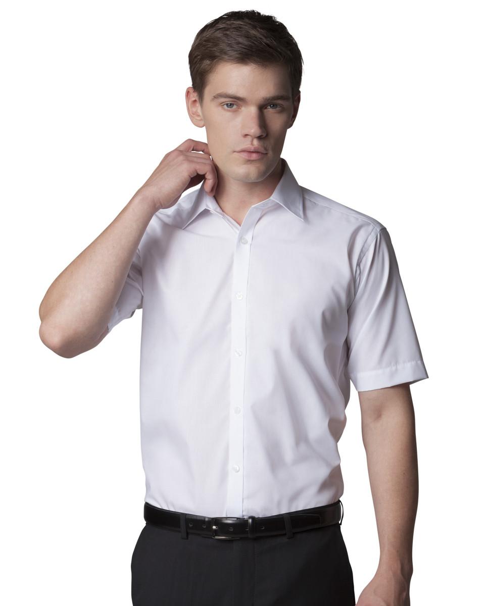 0b4b91f423 KK191 Kustom Kit Men's Slim Fit Short Sleeve Business Shirt