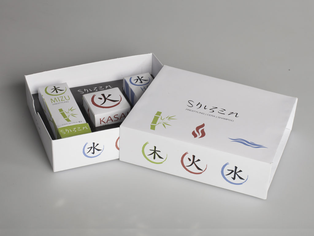 Shizen – Packaging Champú Cera y Prestyling