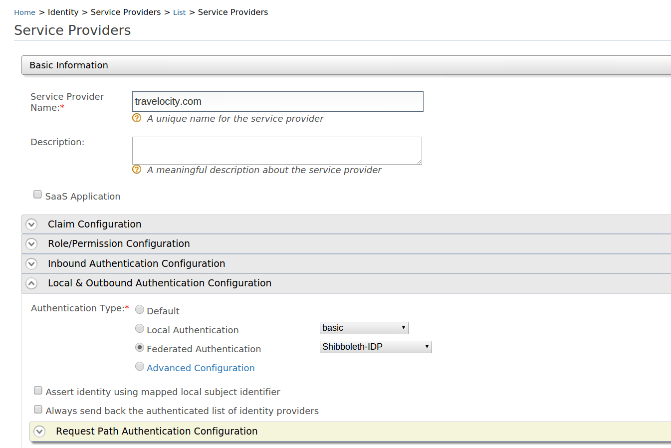 Federated Authentication Integrating Shibboleth With Wso2 Diagram 1 Operation Of The Sso For Web Service Or Less You Can Configure Using Advance Configuration Here We One Step That Contains Two Option Is Basic