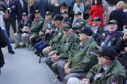 Alguns dos veteranos presentes