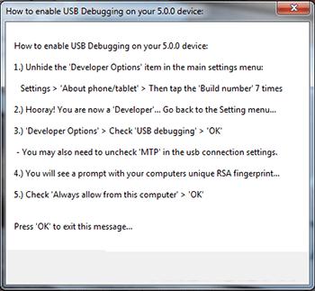 Nexus_racine_toolkit_debogage_usb